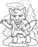 Werewolf wanders through the woods Stock Image