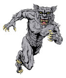 Werewolf wolf sports mascot running Royalty Free Stock Photos