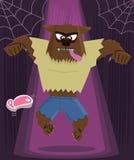 Werewolfhalloween-Zeichenvektorabbildung Stockfotos