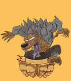 Werewovlf vector and illustration Royalty Free Stock Photos
