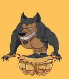 Werewovlf vector and illustration Stock Photos