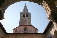 Werf 1 van de kerk stock foto