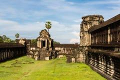 Werf in Angkor Wat Stock Afbeelding