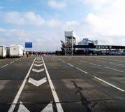 Werf bij de veerboot - Calais, Frankrijk Stock Afbeelding