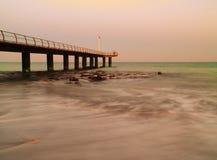 Werf en oceaan stock fotografie