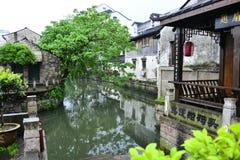 Werf op Groot kanaal China Stock Afbeelding