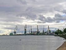 Werf in Petrozavodsk Royalty-vrije Stock Foto