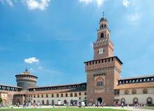 Werf van Sforza-Kasteel, Milaan, Italië Royalty-vrije Stock Foto