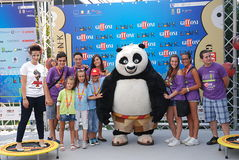 Werfen Sie Al Del Film Kung Fu Panda 2 Giffoni-Film-Festival 2011 Lizenzfreies Stockbild
