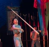 Werfen Sie die Gewehr Technologie-akrobatische showBaixi Traum-Nacht Lizenzfreies Stockfoto