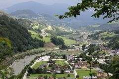 Werfen Village - Austria Stock Photos