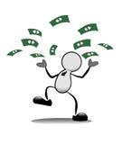 Werfende Banknoten des Geschäftsmannes. Lizenzfreies Stockbild