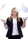 Werfende Papiere Stockfoto