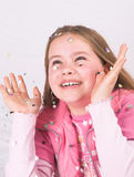 Werfender Confetti Lizenzfreies Stockbild