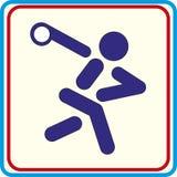Werfendes Diskettensymbol für Download Vektorikonen-Druckprojekte Stockfotos