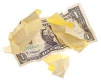 Werfendes Geld weg Lizenzfreies Stockfoto