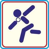Werfendes Kernsymbol für Download Vektorikonen-Druckprojekte Lizenzfreies Stockbild