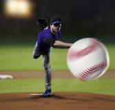 Werfer-Baseball-Spieler Lizenzfreies Stockfoto