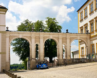Werfingang aan Freising-kathedraal, Beieren, Duitsland stock afbeeldingen