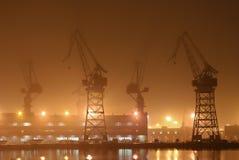Werft Stockbild