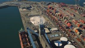 Werft-Antenne stock video