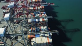 Werft-Antenne stock footage