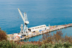 Werft des Castellammare stockbilder