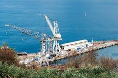 Werft des Castellammare stockbild
