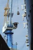 Werft-Kran bei der Arbeit Lizenzfreie Stockbilder