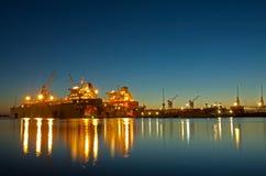 Werft in Riga lizenzfreie stockbilder