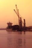 WERFT - Schiff im Trockendockyard, Freezone Dubai, UAE 21. Juli 2017 Stockbilder