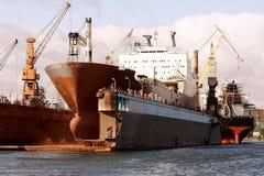 Am Werftdock Stockbild