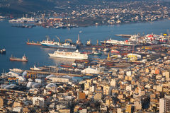 Werfte in Perama, Piräus, Athen Lizenzfreie Stockfotografie