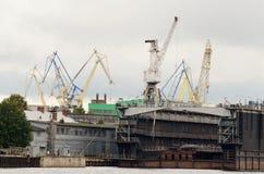 Werfte, zum von Schiffen zu errichten Lizenzfreie Stockbilder