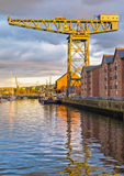 Werftkran auf Fluss Clyde Lizenzfreie Stockbilder