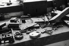 Werkbank bij slotenmakers royalty-vrije stock fotografie