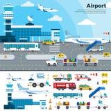 Werkdag in de luchthaven stock illustratie