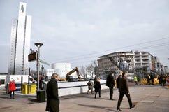 Werkdag in Dusseldorf!!! Stock Afbeelding
