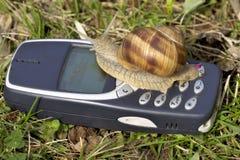 Werkelijk langzame mobiel Stock Foto