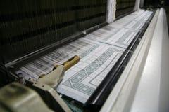 Werkend katoenen weefgetouw Royalty-vrije Stock Afbeeldingen