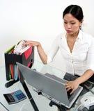 Werkende Aziatische vrouw Stock Foto