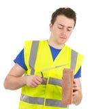 Werkende bouwer Stock Foto's