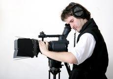Werkende cameraman Stock Foto