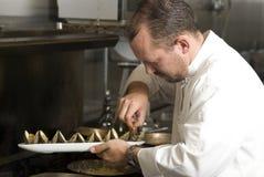 Werkende chef-kok royalty-vrije stock foto