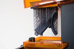 Werkende 3d printer dicht omhoog Royalty-vrije Stock Afbeeldingen