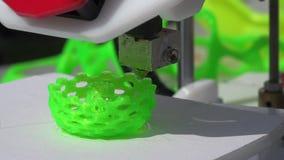 Werkende 3D Printer 4K stock videobeelden