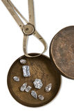 Werkende doos met diamanten Stock Afbeeldingen