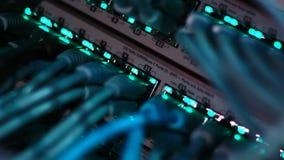Werkende ethernet server stock footage