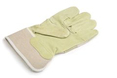 Werkende geïsoleerdel handschoen royalty-vrije stock foto's