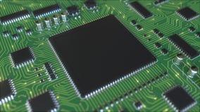 Werkende generische chipset Het conceptuele 3d teruggeven Stock Fotografie